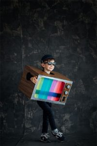 DIY Halloween box costume