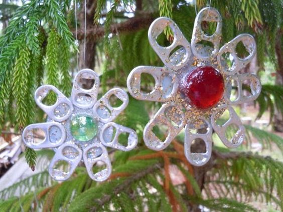 DIY recycled decorations