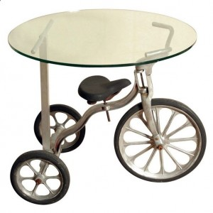 Upcycled tricycle table