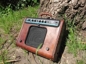 Green living: Do it Yourself Upcycled Suitcase Amp