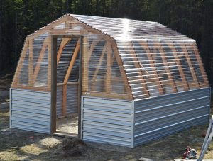 DIY Upcycled greenhouse tutorial