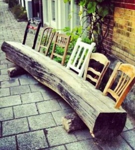 Bench upcycled