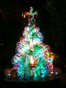 recycled bicycle Christmas tree