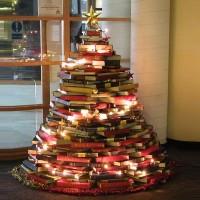 DIY book Christmas tree