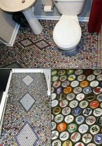 upcycling Bottle top floor