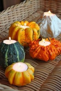 DIY Thanksgiving Candle pumpkins