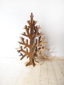upcycled cardboard box Christmas tree