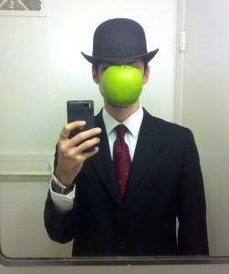 DIY Halloween Costume apple man