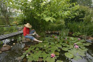 upcycled garden pond