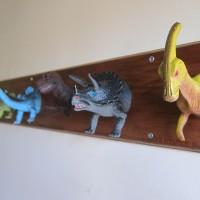 upcycled Dinosaur coat rack