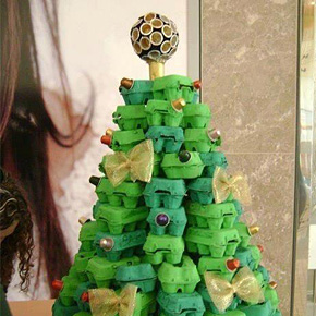 Christmas Tree Using Recycled Materials.31 Diy Christmas Trees Made From Recycled Materials