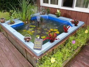 upcycled hot tub pond