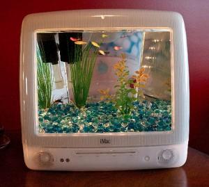 Imac fish tank upcycled diy