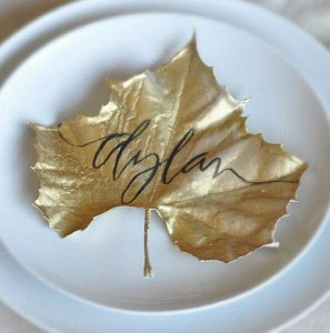 DIY Leaf place settings