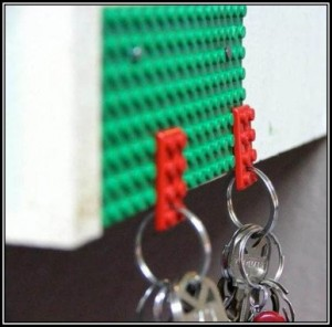 Upcycled Lego key holder