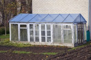 Upcycled window greenhouse DIY