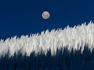 Green living: Penitentes moon