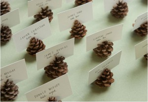 Thanksgiving DIY Pine cone place settings