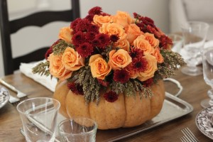 DIY Pumpkin vase Thanksgiving life hacks