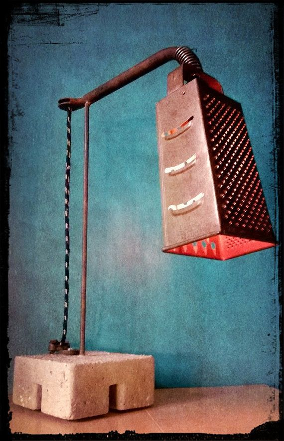 Recycled grater light