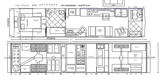 7 free floor plans for school bus to tiny home conversions rh greenmoxie com Bus Plan Photoshop Metro Bus Plans