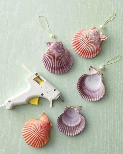 19 upcycled christmas ornaments you can make yourself - Seashell ornaments to make ...