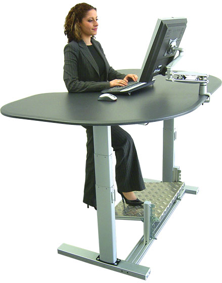 Green living standing desk - Stand up office desk ...