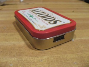 Upcycled altoids solar charger DIY