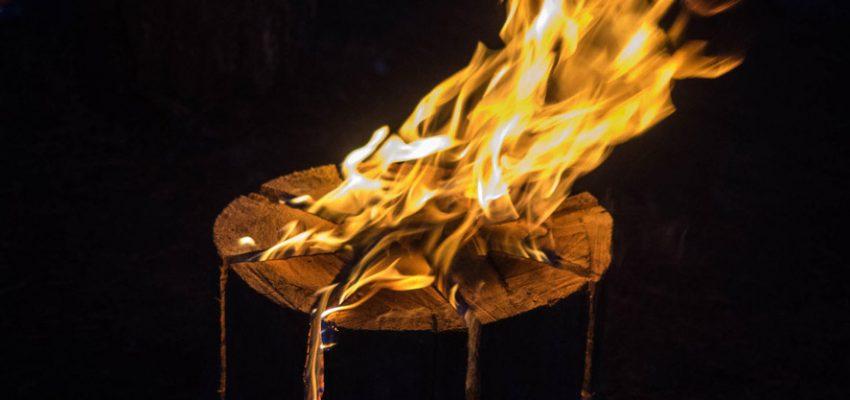 Flaming stump
