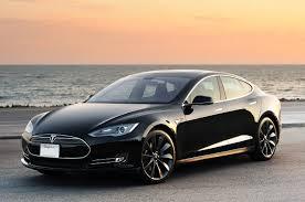 Tesla model S electric hybrid car