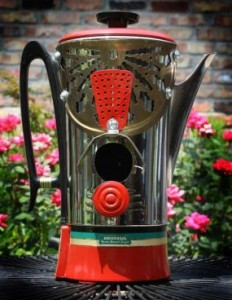 Upcycled Coffee pot bird house