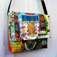 Upcycled Plastic messenger bag