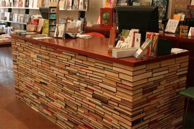 Upcycled book bar