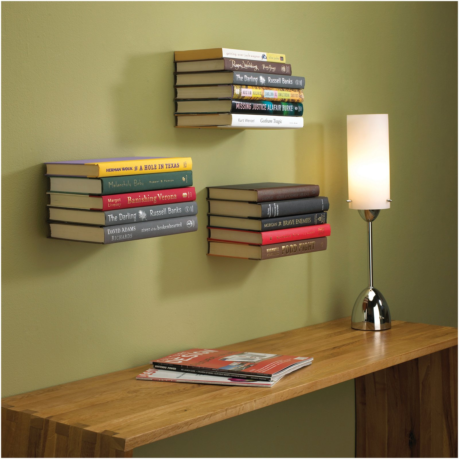 Upcycled book shelf