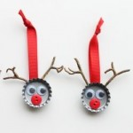 Upcycled bottle top reindeer