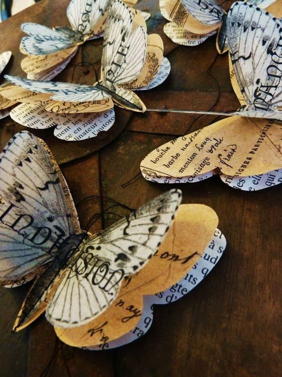 Upcycled butterflies