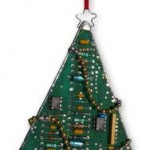 Upcycled circuit board tree