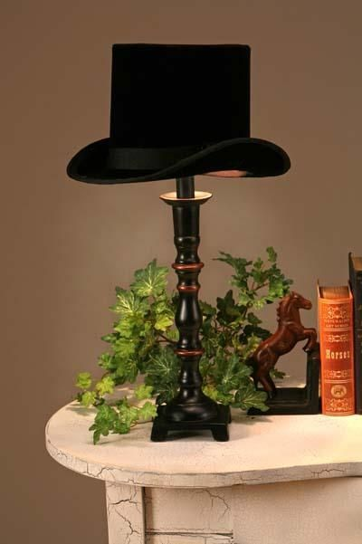Upcycled top hat lampshade