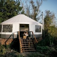 Step by step yurt build