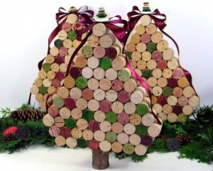 Upcycled wine cork tree