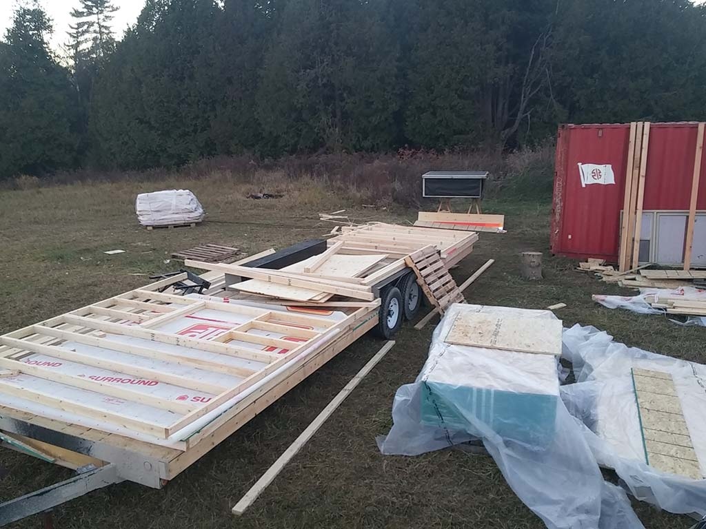 Framing The Walls Of The Tiny House