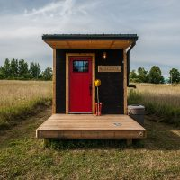 Greenmoxie tiny house front door