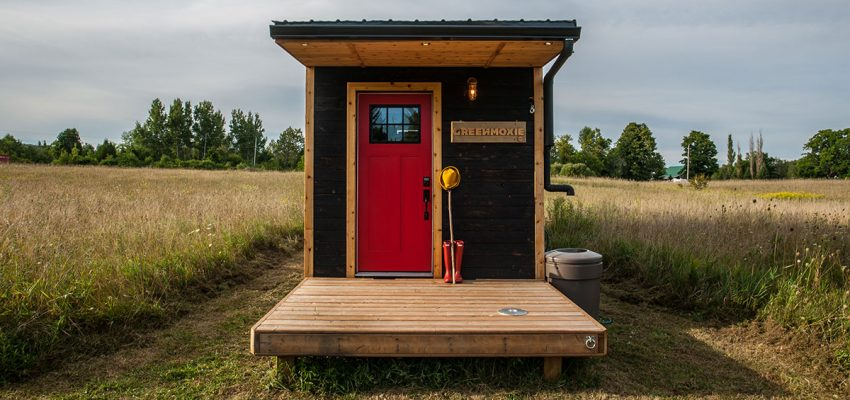 Greenmoxie tiny house front door