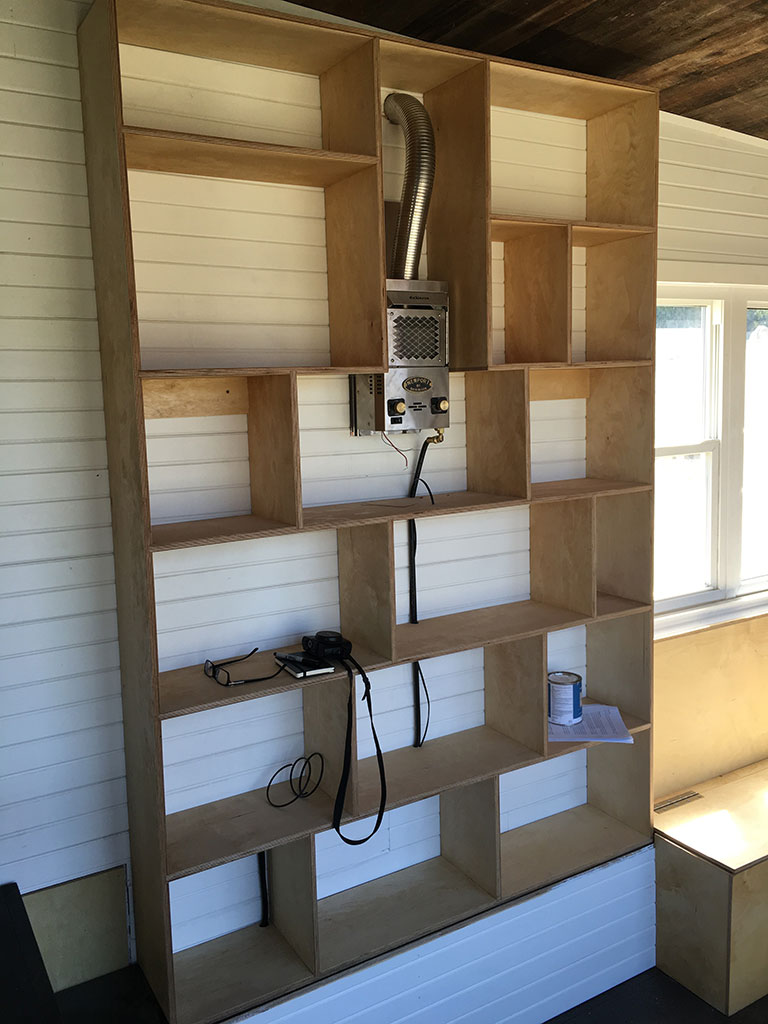 Gm Tiny House Bookshelf Heater