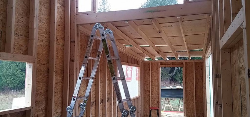 framing our tiny house