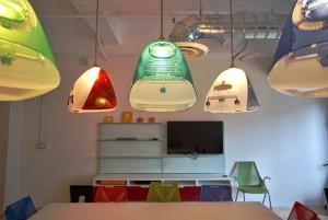 iMac upcycled lights