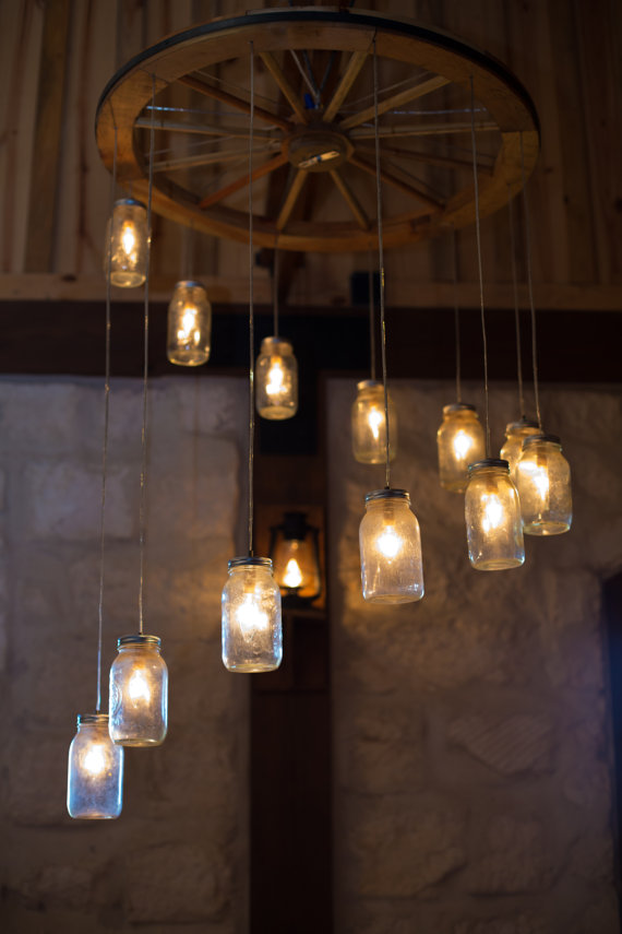 Green home: Mason Jar Chandelier