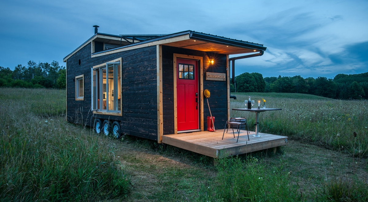 The greenmoxie tiny house project greenmoxie for Small house projects ideas